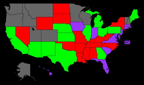 USA INFLUENZA PNEUMONIA DEATH RATE BY STATE - Pneumonia us map